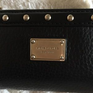 Michael Kors Bags - Michael Korda Leather Tri-fold Wallet